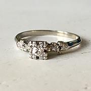 Fantastic Detail Aquamarine Filigree Engagement Ring