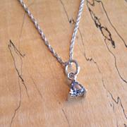 Lavender Blue Sapphire Pendant Necklace