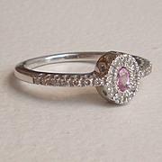 Diamond Pink Sapphire Engagement Ring