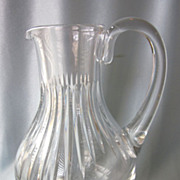 "SALE Vintage Baccarat Messena 9-1/2"" Crystal Water Pitcher"