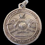 Vintage Sterling U.S.S. Bache DD 470 Medal Pendant