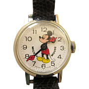 Vintage Bradley Mickey Mouse Swiss Wind Up Watch 1970