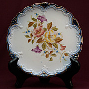 SALE Carlton Ware Decorative Plate 1898 - Floral with Blue and Gold Trim