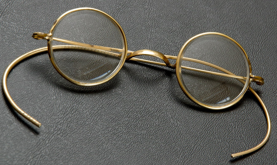 Eyeglass Frames Wire Rim : Early Childs or Dolls Round Wire Rim Spectacles or Eye ...