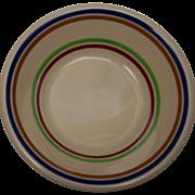 SOLD Syracuse China Adobe or Pendleton Stripe Dessert Bowl