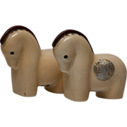SOLD Vintage Horse Salt and Pepper Shakers - Czechoslovakia