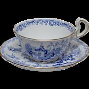 Royal Albert Blue Willow Tea Cup and Saucer - ca. 1925