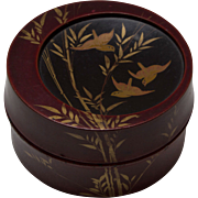 Japanese Red Lacquer Box or Kogo - ca. 1910