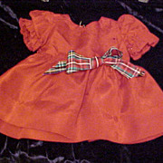 SOLD Red Taffeta Christmas dress for Shirley Temple 18""