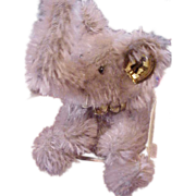 "SALE Tiny the Knickerbocker mohair elephant 4"" vintage"