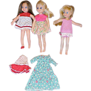 SALE 1965 Mattel 3 Tutti dolls with tagged dresses and Buffy dress