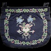 REDUCED Vintage Chinese Silk Forbidden Stitch Embroidered Purse