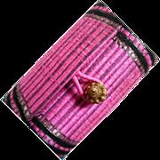 Vintage 1960's Silk Tube Clutch Purse