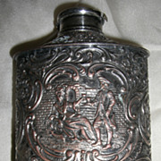 Silver Plate Repousse' EG Webster Powder/Talc Shaker