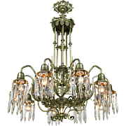 Crystal Chandelier Gothic Style 10 Arm Ceiling Light Fixture (ANT-535)