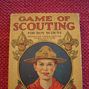 Rare Milton Bradley 1930's Game of Scouting Card Game
