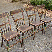 SALE 19th C. Paint Decorated Pennsylvania Chairs