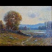 H. Peabody Flagg (Amer. 1859-1937) Oil on Board Landscape