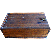 19th C. Walnut Dovetailed Spice Box