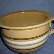 Yellow ware potty