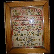 Small 19th. century sampler