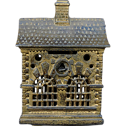 Beautiful Cast Iron Penny bank by Grey Iron Casting Co.