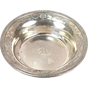 1920s Dominick & Haff Sterling Silver Bowl Medallion & Floral Swags Mono'd R