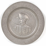 Carl Reutlinger Pewter Bowl Profile of Soldier