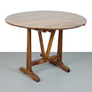 Antique 19th Century Flip-top Wine-Tasting Table Professionally Restored