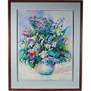 Patty Frierson Original Watercolor Painting Floral Still Life sgnd