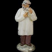 Vintage Murano Art Glass Figure of Old-School Doctor w Parabolic Reflector
