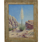 1950's California Desert Still Life Oil Painting signed Lydia Seligmuller