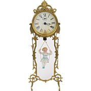 1886 Ansonia Jumper #2 Bouncing Porcelain Doll Clock