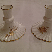 Hammersley Porcelain Candlesticks