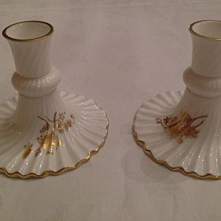 Hammersley Porcelain Candlesticks
