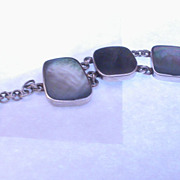 Sterling Silver and Abalone Toggle Bracelet
