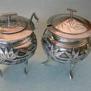 Antique Japanese Sterling Silver Salt & Pepper  Hallmarked