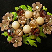 Gorgeous Selini Brooch signed