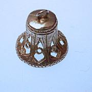 Sterling Silver Wedding Bell Charm
