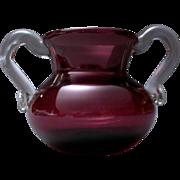 Vintage Hand Blown Purple Bud Vase Art Glass