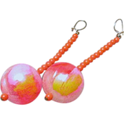 Jules Van Rouge Beaded Dangle Earrings