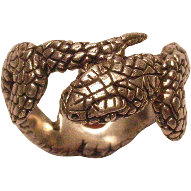 sterling silver s snake ring