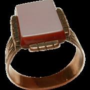Antique Victorian Sardonyx Gold Ring