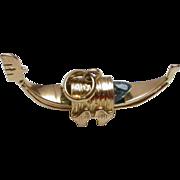 18K Gold Italian Gondola Charm hallmarked