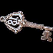 Sterling Silver Key Charm #18