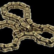 Gentleman's Antique 15K Gold British Hallmarked Watch FOB Chain
