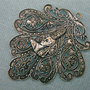 Antique French Bigouden 800 Silver Pendant
