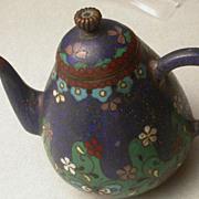 Antique Asian Cloisonne  Miniature Teapot