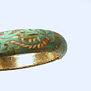Early Kenneth Jay Lane Collection silk Bangle Bracelet