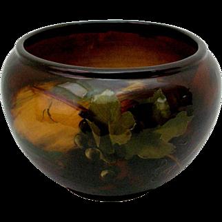 Antique Weller Aurelian Jardinière Kappas Grape Pattern Pottery c1900